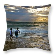 Dancing On The Beach Throw Pillow