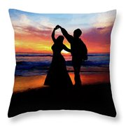 Dancing On The Beach - Painting Throw Pillow