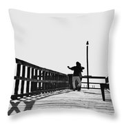 Dancing On The Pier Throw Pillow