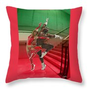 Dancing On The Stairs Throw Pillow