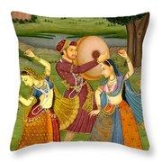 Dancing Outdoor Throw Pillow