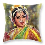 Dancing Padmini Throw Pillow