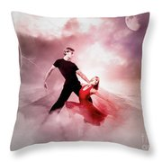 A Passionate Pair Dance In The Middle Of Nowhere, Who Embody The Strength And Subtlety Throw Pillow