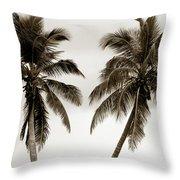 Dancing Palms Throw Pillow