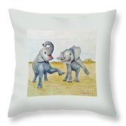 Dancing Throw Pillow by Phyllis Howard