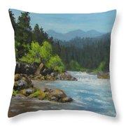 Dancing River Throw Pillow
