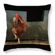 Dancing Rooster Throw Pillow