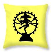 Dancing Shiva Throw Pillow