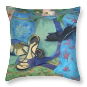 Dancing Shoes And Dogwoods Throw Pillow