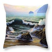 Dancing Tide Throw Pillow