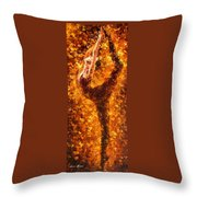 Dancing Twist - Palette Knife Oil Painting On Canvas By Leonid Afremov Throw Pillow