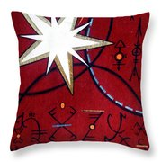 Magical Star And Symbols. Part 1 Throw Pillow