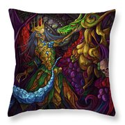 Dancing With Carousel Creatures Throw Pillow