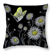 Dancing With Daisies Throw Pillow