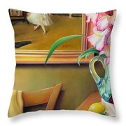 Dancing With Glads Throw Pillow