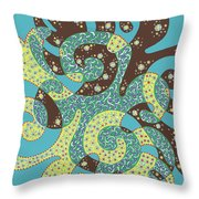 Dancing With Octopus Throw Pillow