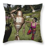 Dancing With Rollers 34 Throw Pillow