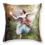 Dancing With The Light Throw Pillow