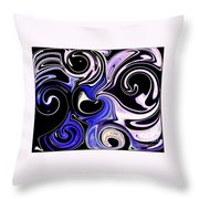 Dancing With The Swans Abstract Throw Pillow