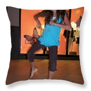 Dancing Young Girl Throw Pillow