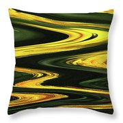 Dandelion Abstract Throw Pillow