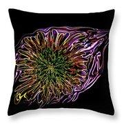 Dandelion Eye In Pink Throw Pillow
