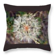 Dandelion Fuzz Throw Pillow