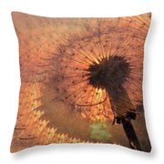Dandelion Illusion Throw Pillow