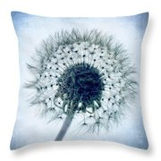 Dandelion In Blue Throw Pillow