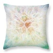 Dandelion In Winter Throw Pillow