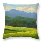Dandelion Meadows Throw Pillow