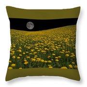 Dandelion Moon Throw Pillow