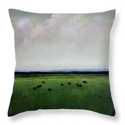 Dandelion Pastures Throw Pillow by Toni Grote
