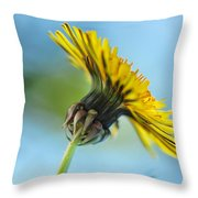 Dandelion Reaching High Throw Pillow