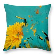 Dandelion Summer Throw Pillow