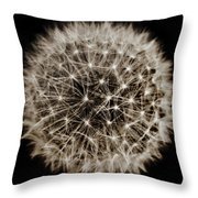 Dandelion Sun Throw Pillow