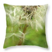 Dandelion Wish 7 Throw Pillow