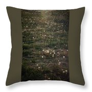 Dandelions From Foot To Far Throw Pillow