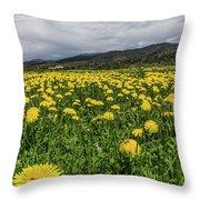 Dandelions Portrait Throw Pillow