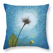 Dandy Dandelion Throw Pillow
