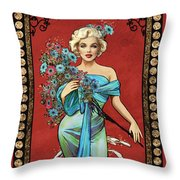 Danella Students 1 Red Throw Pillow