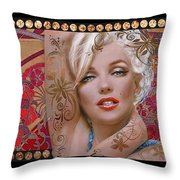 Danella Students 2 Red Throw Pillow