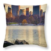 Danger - Thin Ice Throw Pillow