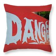 Danger - Global Warming Throw Pillow