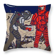 Danger In Deep Space Throw Pillow