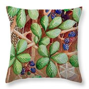 Danger In The Bushes Throw Pillow
