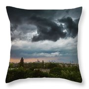 Dangerous Stormy Clouds Over Warsaw Throw Pillow