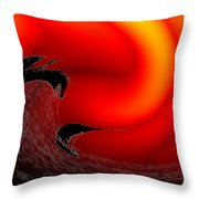 Dangerous Waters Off Alki Throw Pillow