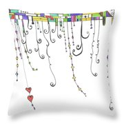 Dangles Throw Pillow