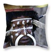 Dani Tribesman Throw Pillow